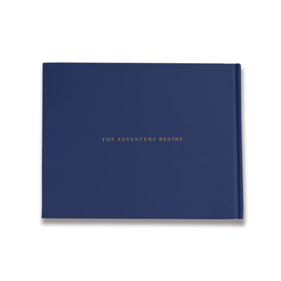 Moore  | Navy and Gold Wedding Guest Book