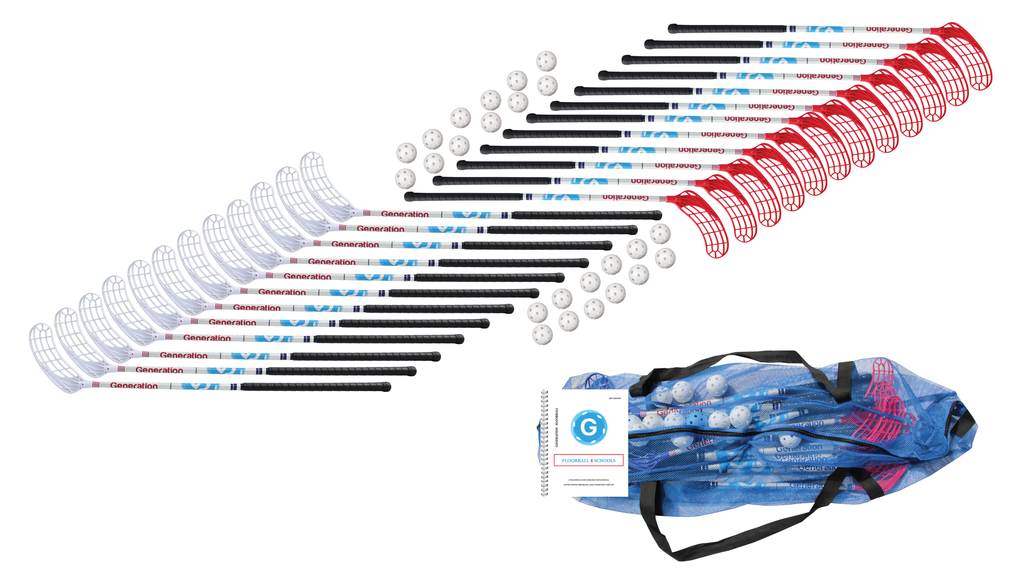 School Kit- Full, 24 Sticks and Floorballs (Nonprofit Discount)