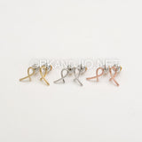 Ribbon of Hope (Finger Crossed) Earrings