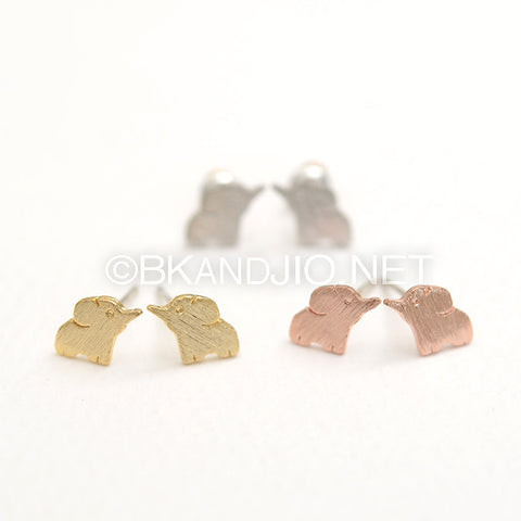 Baby Elephant Stud Earrings