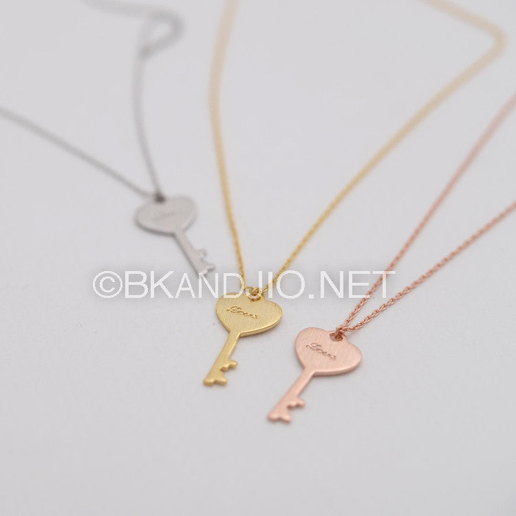 Love Key Necklace