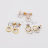 Linked Circles Stud Earrings