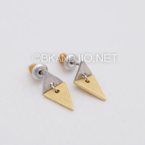 Linked Triangles Stud Earrings