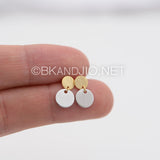 Linked Discs Stud Earrings