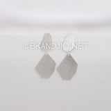 Sterling Silver Geometric Double Drop Earrings