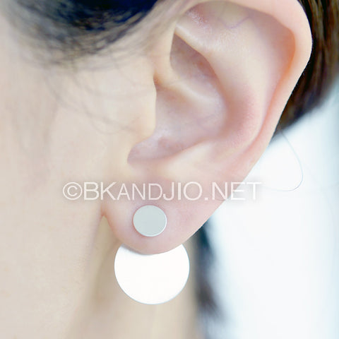 Sterling Silver Discs Ear Jackets