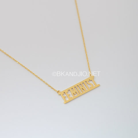 FEMINIST Letter Necklace