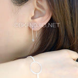 Sterling Silver Dainty Disc Ear Wire Earrings