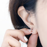 Twisted Flat Circle Stud Earrings