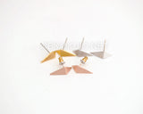 Geo 3D Triangle  Stud Earrings