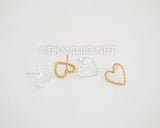 Twisted Flat Heart Stud Earrings