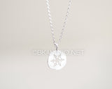 Flat Snowflake Necklace