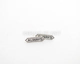 Always lettered Stud Earrings