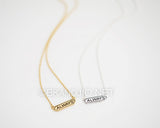 Always Lettered Necklace