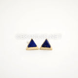 Triangle Gemstone Stud Earrings