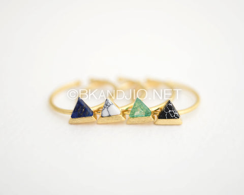 Triangle Gemstone  Ring