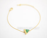 Triangle Gemstone Bracelet