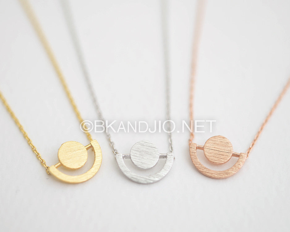 Geo Circle Necklace