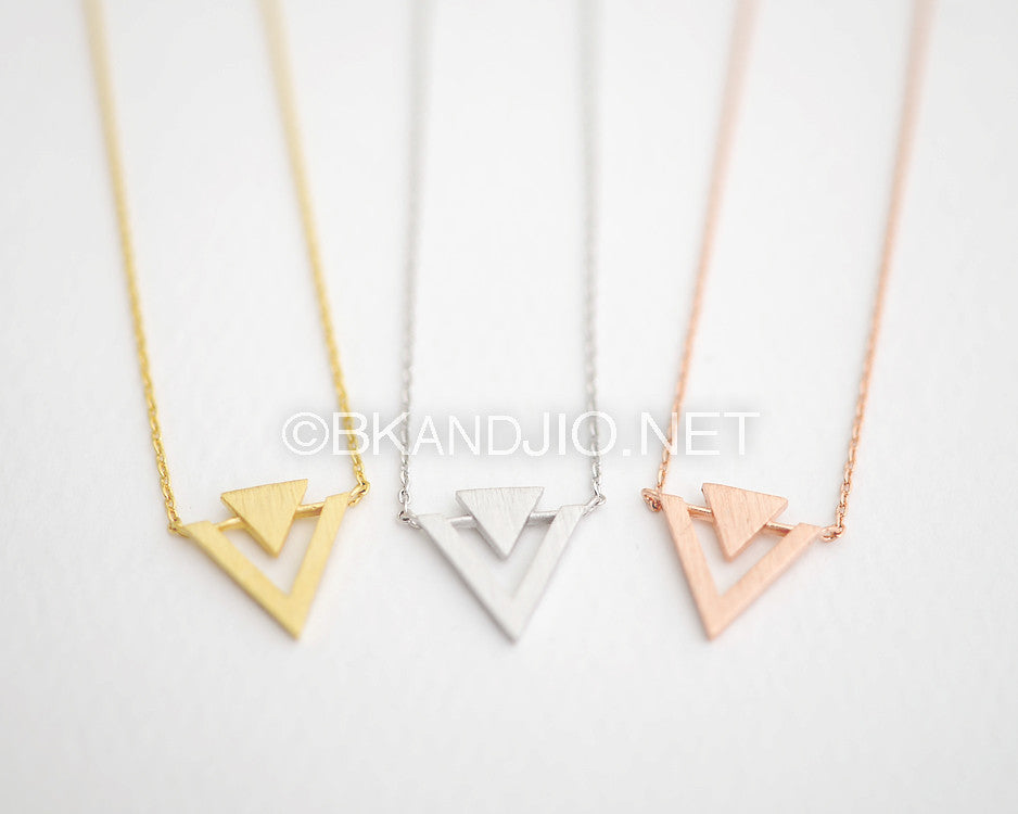 Geo inverted Triangle Necklace