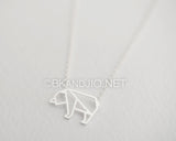 Origami Polar Bear Necklace