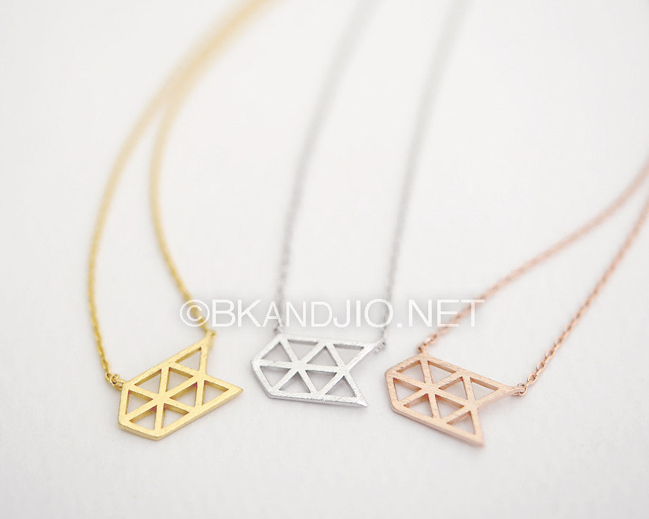 Hexagon Arrow Necklace