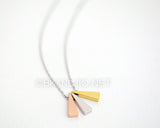 Triple Narrow Triangle Necklace