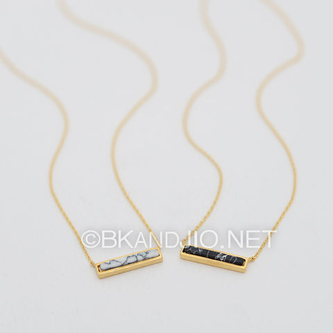 Rectangular Gemstone Necklace