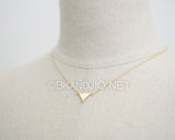 Inverse of  Brushed Triangle Necklace