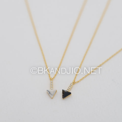 CZ Arrow Gemstone Necklace
