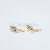 Dipped Plating Bar Stud Earrings
