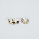 CZ Arrow Gemstone Stud Earrings