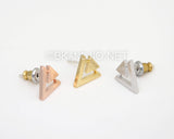 Geo inverted Triangle Studs Earrings