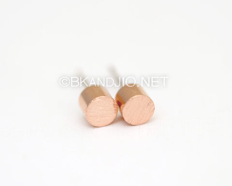 Cylindrical Round Studs Earrings
