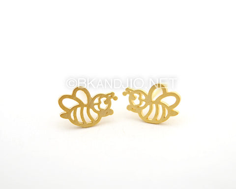 Honey Bee Stud Earrings