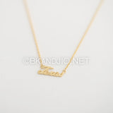 Texas Text Necklace