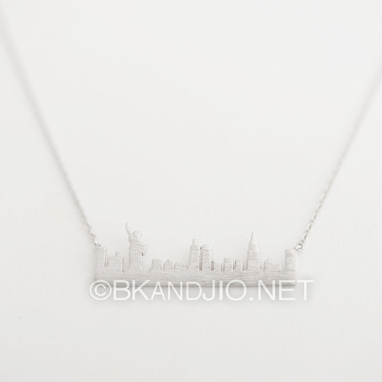 New York Skyline Necklace