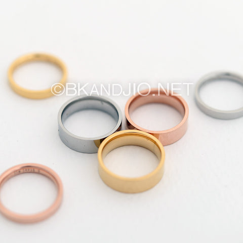 3mm/ 6mm Stainless Steel Ring