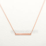 Sterling Silver Thin Bar Necklace