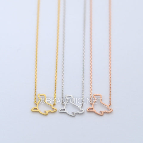 Outline Seal Necklace