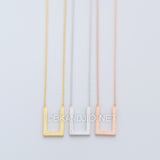 Flat U Necklace