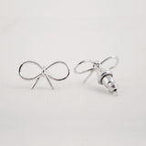 Sterling Sliver Bow Stud Earrings