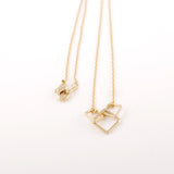 Three square Necklace