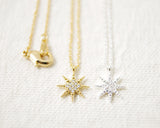 CZ Shiny Star Necklace