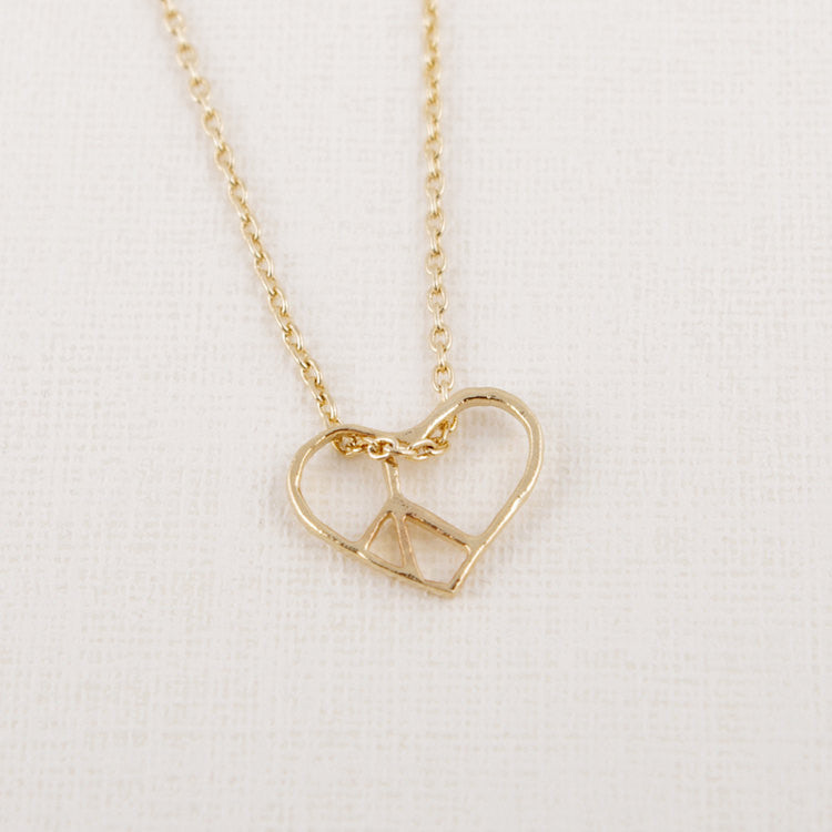 Open Heart Peace Necklace
