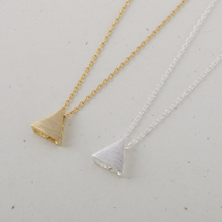 Brushed Triangle Necklace