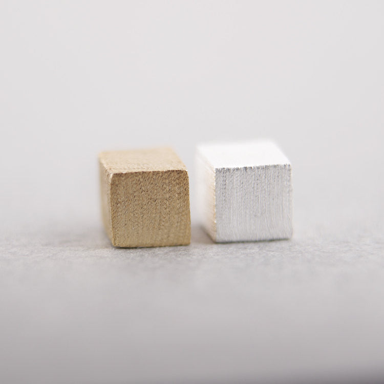Little Cube Stud Earrings