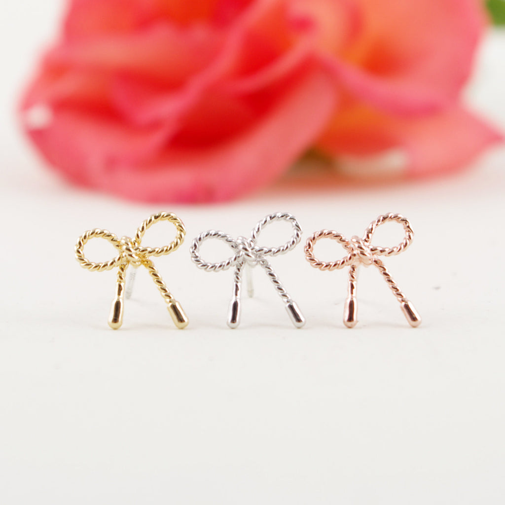 Little Twist Bow Stud Earrings