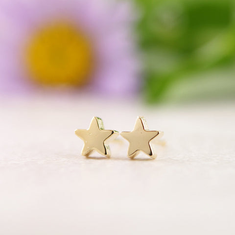 Sterling Silver Little Star Stud Earrings