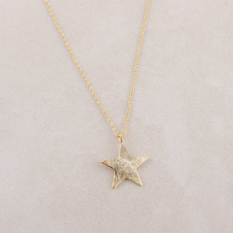 Brushed Star Necklace