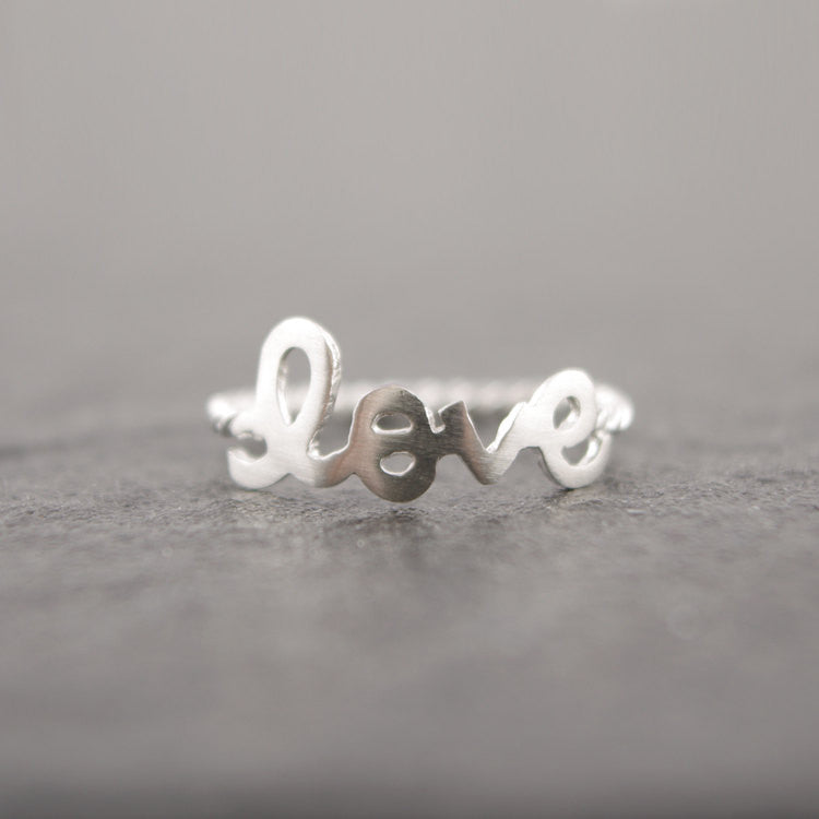 Sterling Silver Love Letter Ring